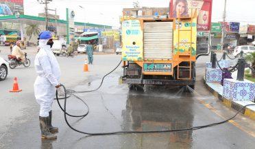 کلورین اور ڈیٹول کے محلول سے بہاولپور کی صفائی