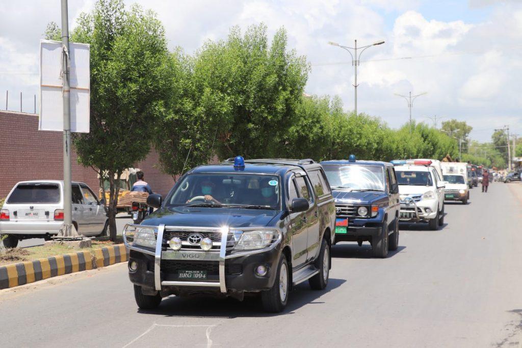 بہاولپور محرم الحرام کے دوران قیام امن کیلئے پولیس کا فلیگ مارچ